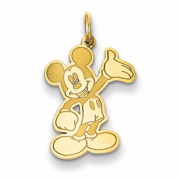 14k Gold Disney Small Waving Mickey Mouse Charm