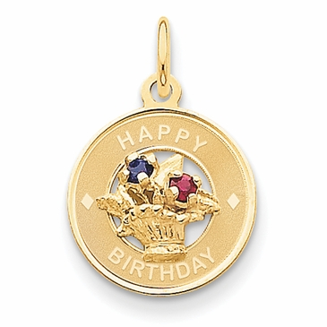 14K Gold Flower Bouquet Birthday Charm