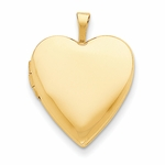 14K Gold Pure Heart Locket