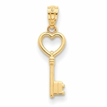 14K Yellow Gold Key Pendant