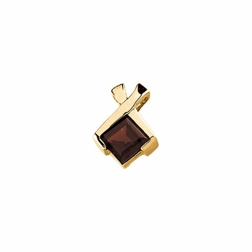 14K Yellow Mozambique Garnet Pendant- Oblong