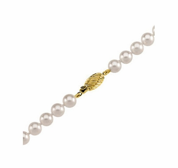 14K Yellow Natural Pearl Strand