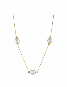 14K Yellow Pearl Necklace