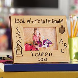 1st Grade Wood Photo Frame - Personalized