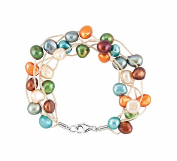 7.5 Inch Multi-Layered Pearl Bracelet