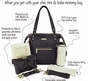 Abby Pebble Black Diaper Bag by Timi & Leslie - click to Enlarge