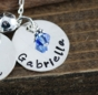 "Add charm 3 for ""Double Charms Name Necklace in Silver"" - click to Enlarge"