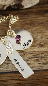 "Add Name Tag or Round Name Charm for ""I Love You To the Moon and Back"" Necklace"
