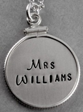 Add silver framed charm 5