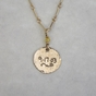 Birthdate is inscribed on back of charm - click to Enlarge