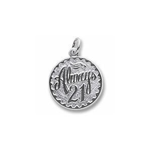Always 21 Charm by Forever Charms - Personalized
