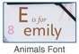 Animals Girl Clock Wall Art Personalized - click to Enlarge