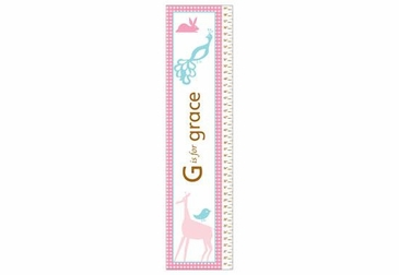Animals Girl Growth Chart Personalized