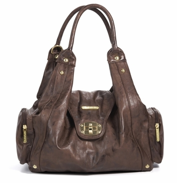 Annette Cocoa Brown Diaper Bag by Timi & Leslie