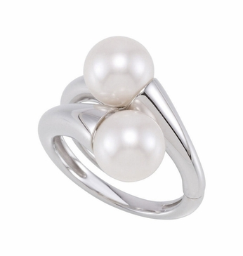 Authentic Natural Pearl Dual Finger Ring