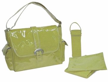 Avocado - Laminated Buckle Diaper Bag by Kalencom