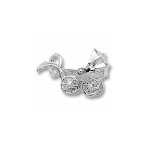 Baby Carriage Charm with Moving Cover by Forever Charms