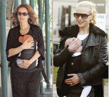 Baby Carrier in Black by Belle Baby - As Seen on Julia Roberts & Nicole Kidman