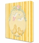Baby Chicks Pastel Pink Stretched Art Personalized by Dish and Spoon - click to Enlarge