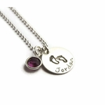 Baby Feet Silver Charm Necklace