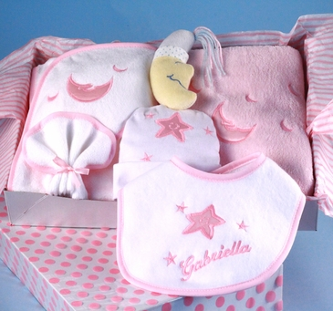 Baby Girl Personalized Layette Set