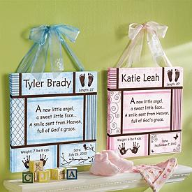 Baby's Details Personalized Canvas Art