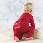 """Baby's First Christmas"" Long Johns"