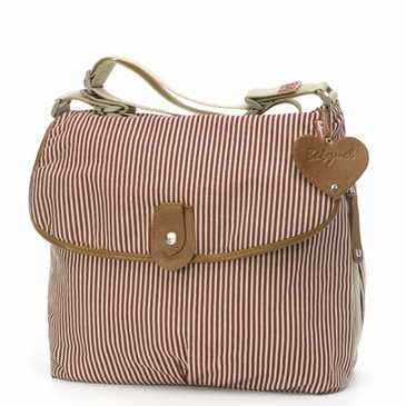 Babymel Satchel Stripe Red Diaper Bag
