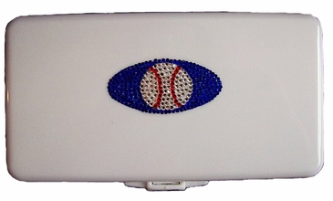 Baseball Wipes Container with Swarovski© Crystals