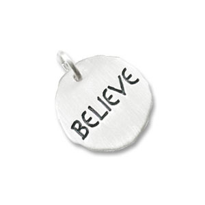 Believe Tag Charm by Forever Charms - Personalized