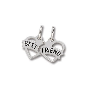 Best Friends Heart Charm by Forever Charms - Personalized