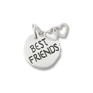 Best Friends Tag with Heart Charm by Forever Charms - Personalized