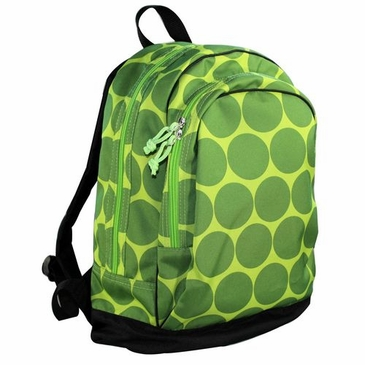Big Dots Green Kids Backpack