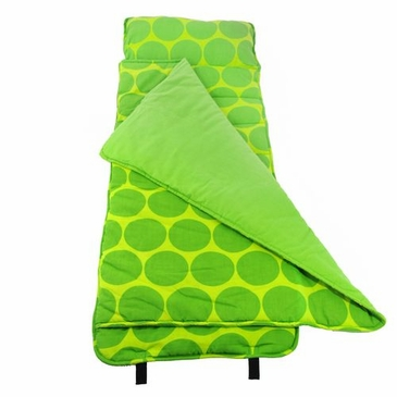Big Dots Green Kids Nap Mat