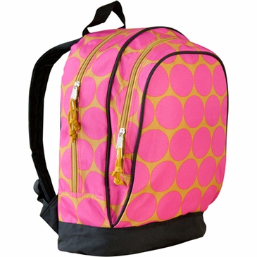Big Dots Hot Pink Kids Backpack