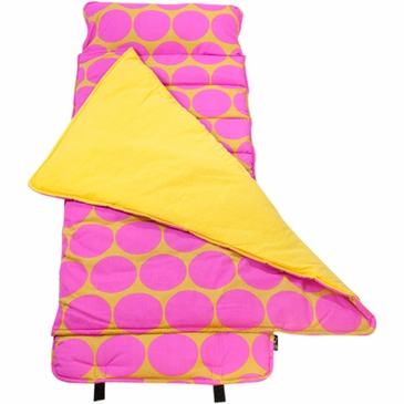 Big Dots Hot Pink Kids Nap Mat