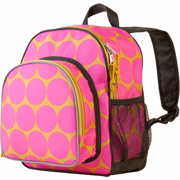 Big Dots Hot Pink Pack 'n Snack Kids Backpack