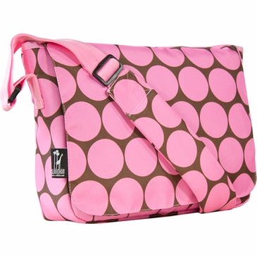 Big Dots Pink Kickstart Kids Messenger Bag