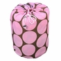 Big Dots Pink Kids Sleeping Bag - click to Enlarge