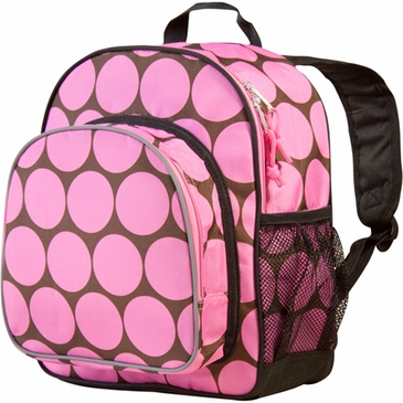 Big Dots Pink Pack 'n Snack Kids Backpack