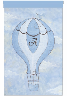 Birdie Balloon Ride II Wall Hanging Personalized by Dish and Spoon