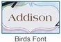 Birds Clock Wall Art Personalized - click to Enlarge