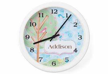 Birds Clock Wall Art Personalized