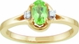 Birthstone and Diamond Open Bezel Ring - click to Enlarge