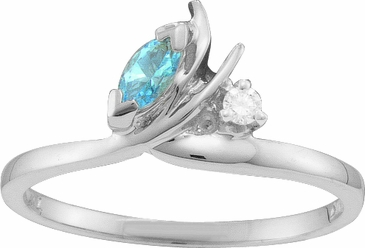 Birthstone and Diamond Ring