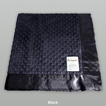 Black Dot Velour Blanket by My Blankee