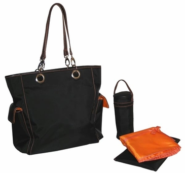 Black Orange - Maxi Tote Diaper Bag by Kalencom