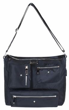 Black Twill Iris Baby Bag by Amy Michelle