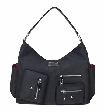 Black Twill Lotus Baby Bag by Amy Michelle