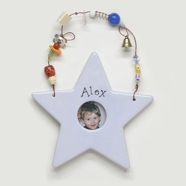Blue Star Picture Frame - Personalized